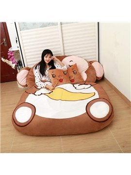 Lovely and Soft Monkey Design Lazy Sofa Tatami Seat
