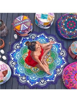 Vintage Indian Mandala Style Round Beach Throw Mat