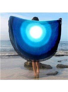 Amazing Gradient Circle Pattern Round Beach Throw Mat