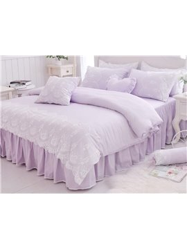 Romantic Princess Style Lace 4-Piece Cotton Duvet Cover Sets