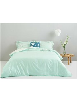 Concise Bubble Print Light Green 4-Piece Duvet Cover Sets