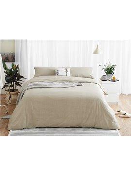 Chic Stripe Print 4-Piece Cotton Duvet Cover Sets
