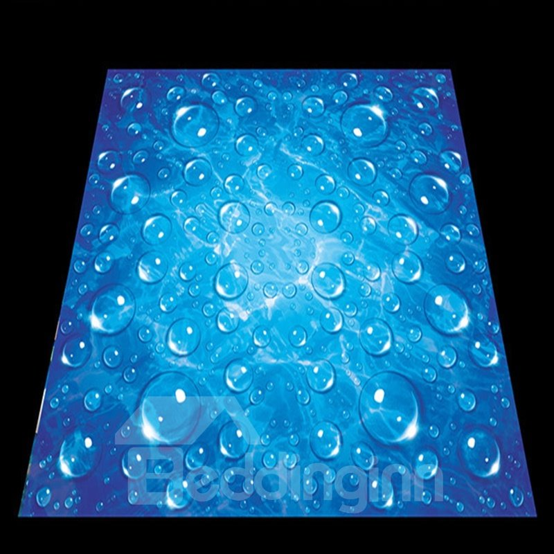 Blue simple style water drops pattern home decorative for Mural 3d simple