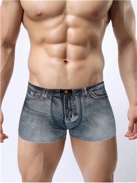 Distress Crafts Fashion Old 3D Jeans Style Design Creative Man Briefs