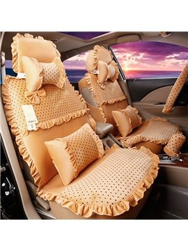 Beautiful Lace Design With Unique Fashion Speckle Lovely Universal Car Seat Cover
