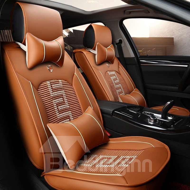Unique Combined Pattern Durable PVC Leather Universal Car