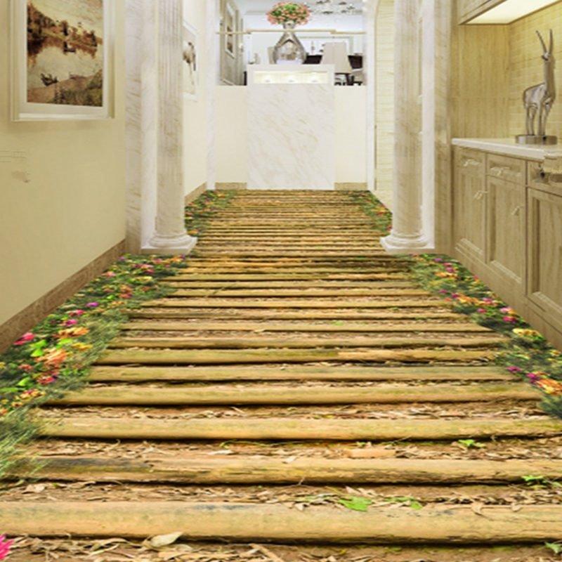 Amazing modern design bridge and flower pattern decorative Amazing 3d floor design