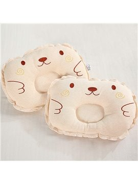 Lovely Bear Head Design Prevent Flat Head Newborn Baby Pillow