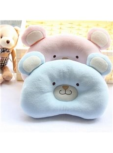 Cute Bear Shape Design Prevent Flat Head Newborn Baby Pillow