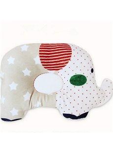 Pretty Elephant Design Three Colors Option Prevent Flat Head Baby Pillow