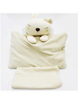 Lovely Rabbit Design Buckwheat Inner Prevent Flat Head Baby Pillow