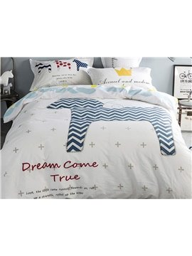 Popular Horse Pattern Kids 100% Cotton 4-Piece Duvet Cover Sets
