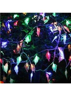 Stunning Colorful Leaves Shape Design 32.8 Feet Christmas Decoration Waterproof Battery LED Lights
