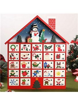 Decorative Snowman Design ​Wooden Christmas Advent Calendar