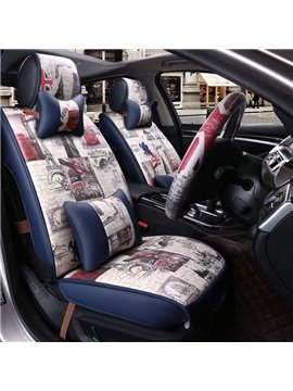 Luxury Graffiti Art Rubbing Fashion Popular Universal Car Seat Cover