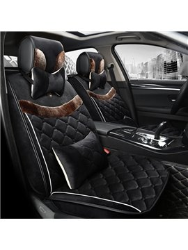 Special Mash Up Textured Velvet Warm Universal Car Seat Cover