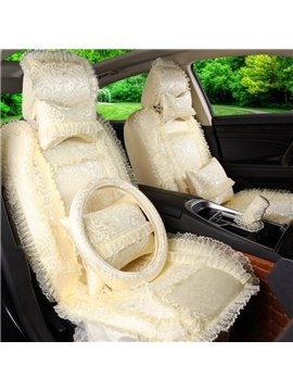 Beautiful Lace Side Design Real Silk Cozy Universal Car Seat Cover