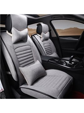 New Solid Fashion Unique Seam Edge Craft With Frills Universal Car Seat Cover