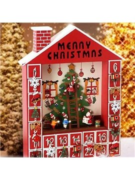 Decorative Chirstmas Tree Pattern ​Wooden Christmas Advent Calendar