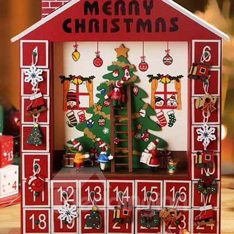 Decorative Chirstmas Tree Pattern Wooden Christmas Advent .