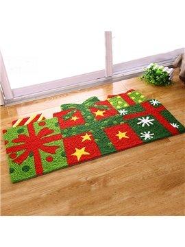 Designer Christmas Gifts Pattern Christmas Theme Anti-Slip Acrylic Rug