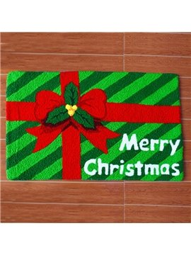 Christmas Gift Pattern Merry Christmas Theme Anti-Slip Acrylic Rug
