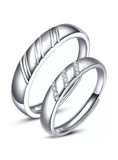 Special Design 925 Sterling Silver Couple Ring