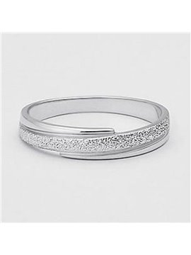 Popular Dull Polish Design 925 Sterling Silver Ring