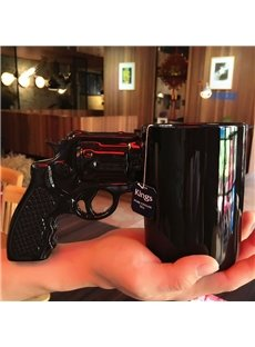 Black Cool Ceramic Revolver Shape Heat Resistant Coffee Mug