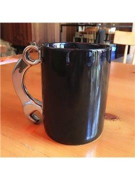 Unique Modern Ceramic Wrench Design Handmade Heat Resistant Coffee Mug