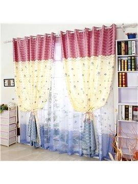 Cartoon Star and Moon Printing Custom Curtain