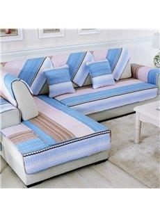 Unique Colorful Strips Print Living Room Decoration Slip Resistant Four Seasons Sofa Covers
