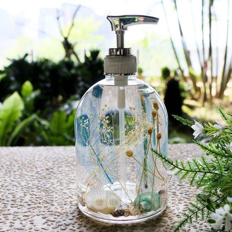 Creative sea world design 4 pieces organic glass bathroom for Sea glass bathroom design