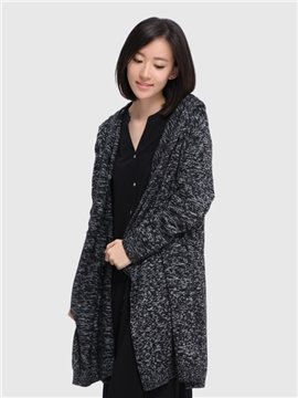 New Women 's Light Loose Long Paragraph Warm Cardigan Home Outdoor Dress