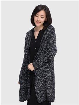 New Women 's Light Loose Long Paragraph Warm Cardigan Home Outdoor Dress