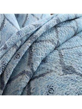 Elegant Blue 3-Piece Cotton Bed in a Bag
