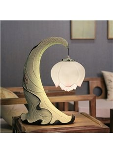 Unique Country Style Resin Lotus Design Home Decorative Table Lamp