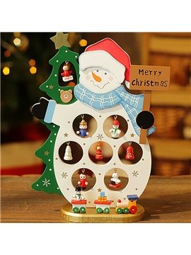 Festival Christmas Style Hollow Snowman and Santa Claus Design Decor