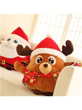 Christmas Style Cartoon Elk Design Back Curshion