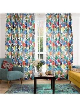 Original Tropical Fruit Printing Window Decoration Custom Curtain