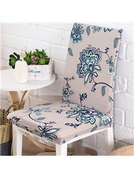 Unique Design Polyester Flower Print Home Decorative 2 Pieces Chair Covers