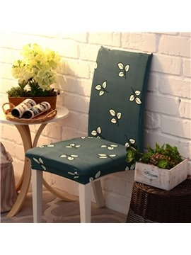 Fabulous Polyester Leaves Print 2 Pieces Four Seasons Washable Decorative Chair Covers