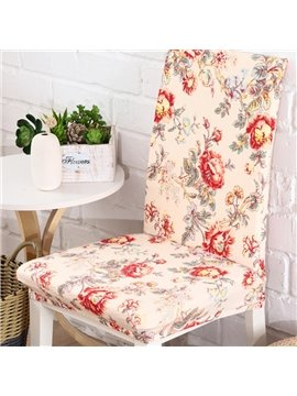Amazing Polyester Peony Print 2 Pieces Four Seasons Decorative Chair Covers