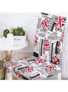 Special European Style Union Jack Print 2 Pieces Home Decorative Chair Covers