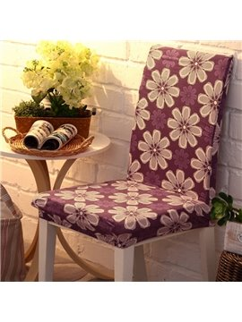 Lovely Polyester Beautiful Flowers Print Four Seasons Washable 2 Pieces Chair Covers