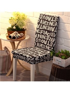 Modern Simple Style Letters Print Four Seasons 2 Pieces Homeware Chair Covers