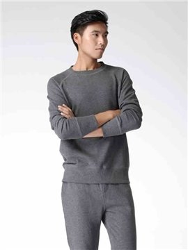 New Men 's Popular Hooded Home Long Shirt Home Dress