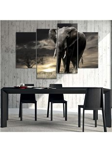 Classic European Style Elephant Pattern 4 Pieces None Framed Wall Art Prints