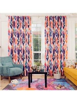 Colorful Geometric Printing Window Decoration Custom Curtain
