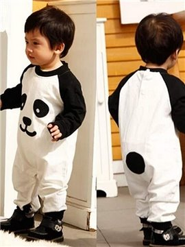 Lovely Long Sleeve Panda Design 100% Cotton Baby and Kids Pajama